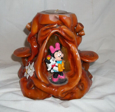 Unique Vintage Disney Mickey & Minnie Mouse (w/ Baby Mouse) Candle Holder