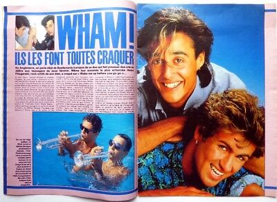 *WHAM / GEORGE MICHAEL => 4 pages French 1984 CLIPPING // FREE SHIPPING!!!