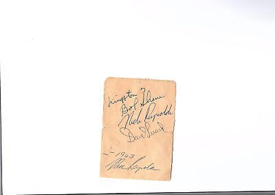 Kingston Trio Signed Page