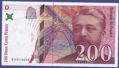 Superbe 200 Francs 1997  Banknote From France.