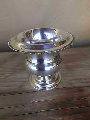 Vintage Gotham Silver Pedestal Toothpick Dish Shield Horse Head