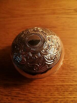 Antique 19th South East Asian (Thai Malay) Small Betel blow or box, Sliver