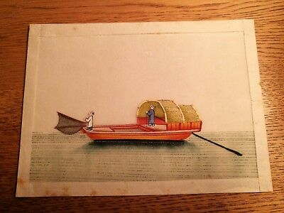 Fine Chinese painting on rice paper, Antique 19th/20th century