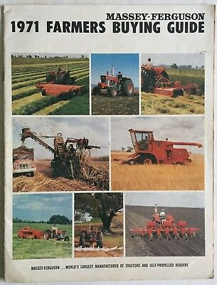 1971 Massey Ferguson Farmers Buying Guide Tractors MF1150 1100 Crawlers MF200