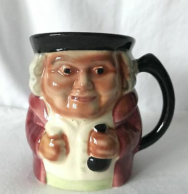 Vintage 10cm Tall Hand Painted SHORTER & SON STAFFORDSHIRE Toby / Character Jug