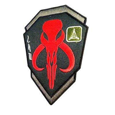bounty hunter star wars mandalorian mand'alor boba parche touch fastener patch