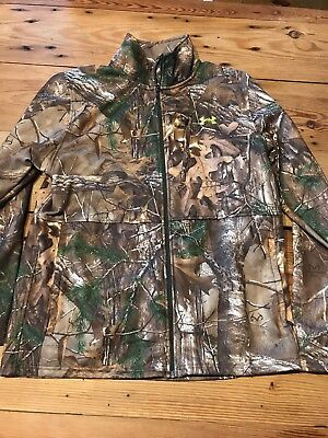 UNDER ARMOUR MEN'S CAMO REALTREE XTRA FULL ZIP Fleece JACKET Sz L 1248012 946