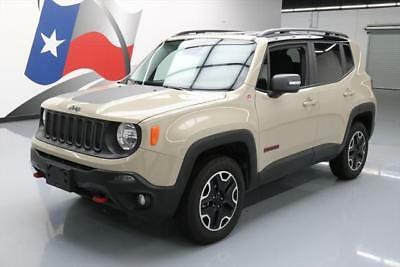 2016 Jeep Renegade Trailhawk Sport Utility 4-Door 2016 JEEP RENEGADE TRAILHAWK 4X4 REAR CAM BLUETOOTH 20K #D92070 Texas Direct