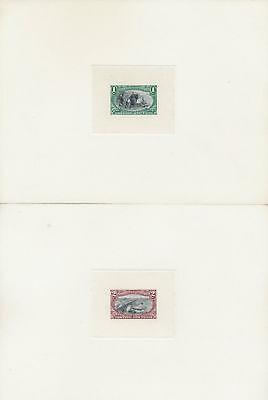 #285-293E Full Sz Bi-Color Die Essays On India Die Sunk On Card Superb Wlm4474