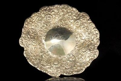 VINTAGE TIFFANY & Co STERLING SILVER FLOWER REPOUSSE BOWL A801-1902