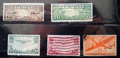 Richnvic1016 ******  Early Air Mails,  C8-C31,  Mlh & Used,  Free Ship, Lot 109