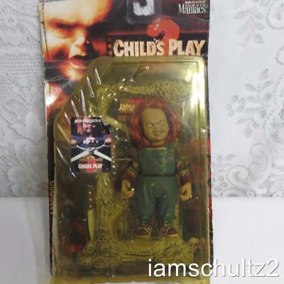 """Vintage 1999 TV Show Horror Movie Scary 5-1/2"""" Child's Play 2 Chucky Doll Figure"""