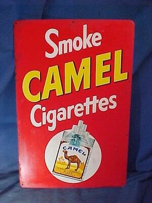 1950s CAMEL CIGARETTES Country STORE TIN Litho Advertising SIGN