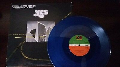 """Yes 12"""" Wonderous Stories special limited edition recorf pressed in blue vinyl"""