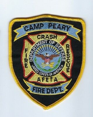US Army Camp Peary AFETA VA Virginia Fire Crash Rescue Dept. patch - NEW!