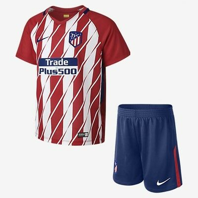 Atletico Madrid FC Home Kids Kits Shirt + Short 17-18 SEASON NO:7 GRIEZMANN