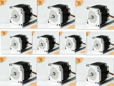 "10PCS Nema23 Stepper Motor 57BYGH627, 287oz-in 3.0A 1/4""Shaft 3D Printer Milling"