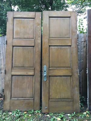 Antique Oak Double Doors Oversize