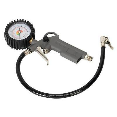 Sealey Wheel Tyre Inflator Pump With Dial Type Gauge - Clip-On Connector