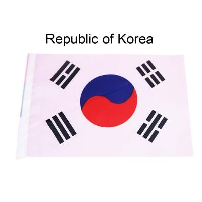 5PCS Hand Table Flag Festivals Country Republic of Korea HELD STICK Small FLAGS