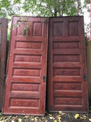 Antique Pocket Doors Mahogany 106 3/4 x 43