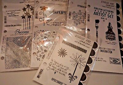 Wendy Vecchi Stamper Anonymous Craft Stamp Lot Wholesale 5 sets NEW