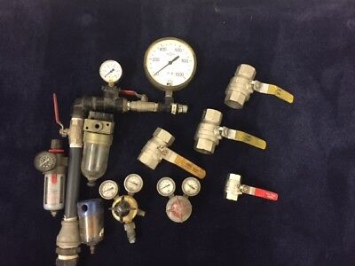pressure gauges and valves for water and air
