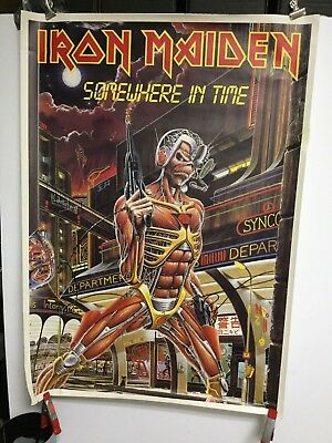 "Iron Maiden ""somewhere in time"". UK  poster"