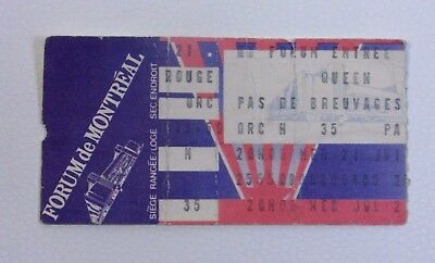 Queen at the Montreal Forum Ticket Stub - 1982 Hot Space Tour Collectible