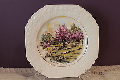 Lord Nelson Pottery Currier & Ives Decorative Plate - American Homestead Spring