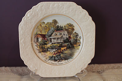 Lord Nelson Pottery Currier & Ives Decorative Plate - American Homestead Summer