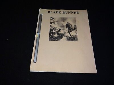 BLADE RUNNER ridley scott rare scenario presse cinema script dialogue 100 pages