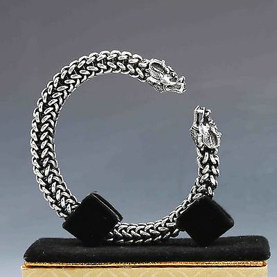 Collectable Tibet Silver Hand Carved Dragon Bracelet  G939