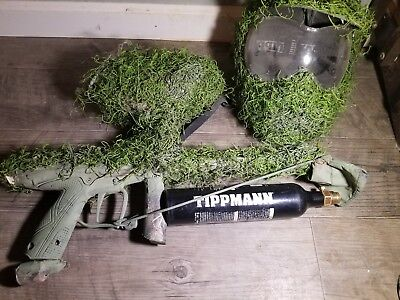 ghillie Tippmann Tactical Paintball Gu(two finger Trigger) with mask