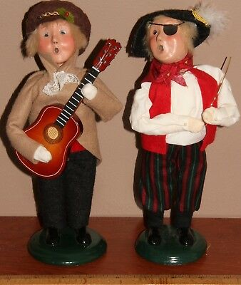 Byers Choice Halloween Pirate & Music Boy With Guitar