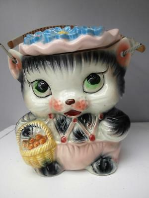Vintage RETRO 60's Kitten CAT Cookie LOLLY Jar MADE in JAPAN 2 available QZZQ