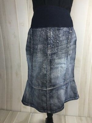 Seven for All Mankind A Pea in a Pod  Maternity Denim Skirt Size 32 Large E9