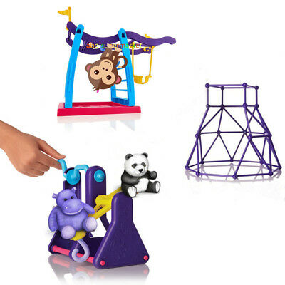 Blue For Finger Monkey Jungle Gym Playset Interactive Baby Monkey Climbing Stand