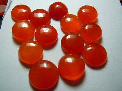 AAA Quality 25 Piece Natural Carnelian 2x2 MM Round Cabochon Loose Gemstone