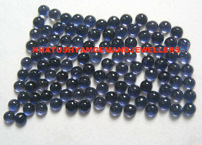 AAA Quality 50 Piece Natural Iolite 2.5X2.5 MM Round Cabochon Loose Gemstone