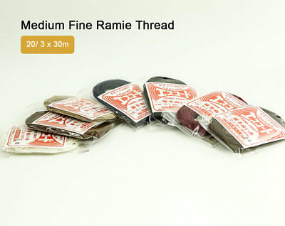 Medium Fine Ramie Thread 30m 3 Ply Twisted Sewing Japan LeatherMob Leathercraft