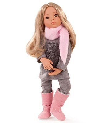 """Gotz Emily 19.5"""" Happy Kidz Poseable Vinyl Multi-Jointed Blonde Doll with Brown"""