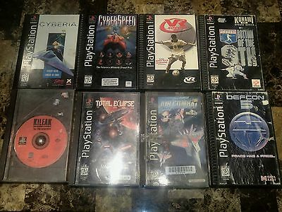 Lot of 8 PS1 Longbox Games INCLUDING Air Combat & Cyberia