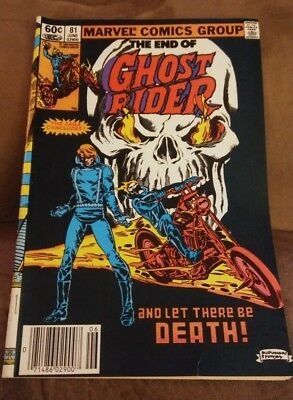 Marvel Comics 1983 The End of Ghost Rider 81 Final Issue VG/FN
