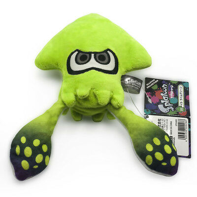 Splatoon Plush Toys 8inches Lime Green Squid Stuffed Animal Kids Plush Doll