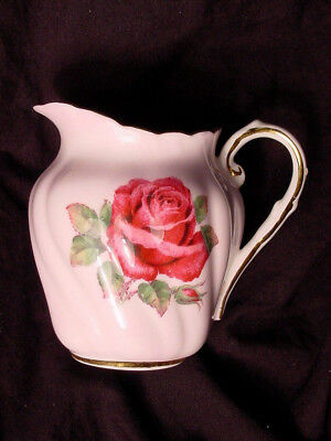 Pink Paragon Red Cabbage Rose Creamer