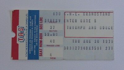 Triumph at the CNE Grandstand Ticket Stub - 1979 Concert Collectible