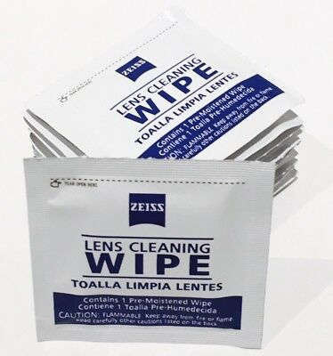 Lot Of 100 ZEISS Pre Moistened Lens Wipes Cellphone Camera Glasses Computer