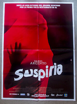 1977	SUSPIRIA  (R2017)  DARIO ARGENTO Original Theatrical Movie Poster HORROR
