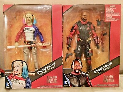 "12"" HARLEY QUINN & DEADSHOT LOT OF 2 Action Doll Figures Suicide Squad DC Comics"